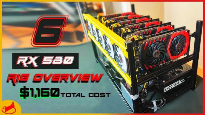 RX 580 Mining Rig Build | 187 MH/s and 850 Watts!