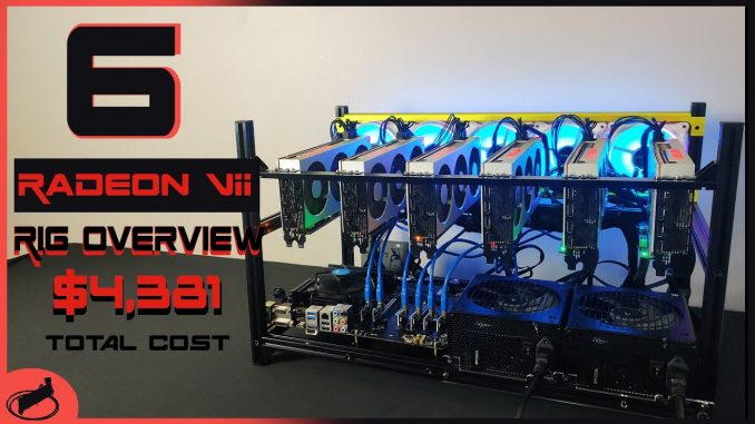 Radeon VII Mining Rig Build   HIGH 480 MH/s and 1240 Watts!!