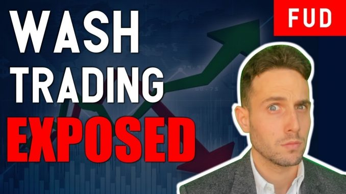 MARKET MANIPULATION EXPOSED! Wash trading bitcoin and cryptocurrency explained!