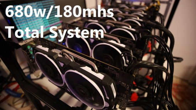 Testing Power Consumption For 6 x RX 580 4gb Mining Rig!