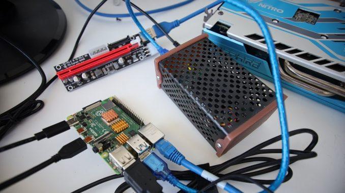 Atom Miner FPGA Setup on a Rasberry Pi 4!