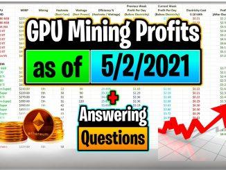 GPU Mining Profits as of 5/2/21   Answering Questions   Twitch Recap